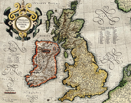 British Isles by Gerardus Mercator (1596) – British History Online