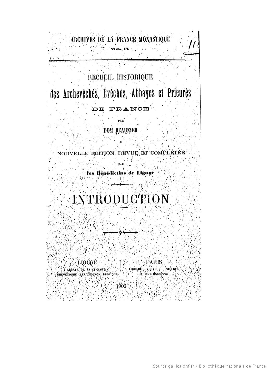 Page de titre de : Abbayes et prieurés de l'ancienne France