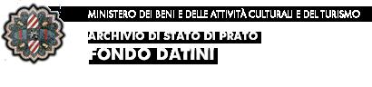 bandeau archivo di stato di Prato, fondo Datini
