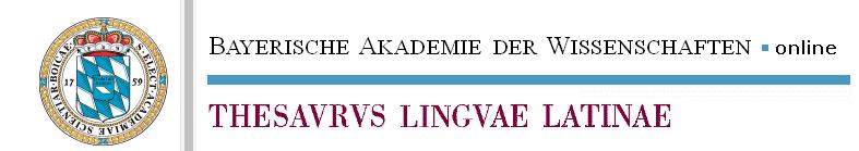 Logo du Thesaurus Linguae Latinae