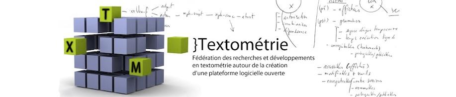 Bandeau du projet Textométrie